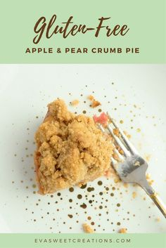 This scrumptious gluten-free crumb pie recipe is filled with apples and pears is perfect to share with your non gluten-free friends!