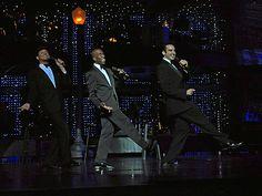 David Villela, Eric Jordan Young and Gabriel Burrafato paying tribute to Frank Sinatra, Sammy Davis Jr. and Dean Martin http://www.lasvegasroundtheclock.com/images/stories/Judy/08-17-11/Vegas_The_Show/Vegas_The_Show_9990.jpg