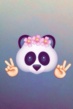 panda, emojis, and wallpaper Bild Emoji Wallpaper Iphone, Cute Emoji Wallpaper, Wallpaper Stickers, Cute Wallpaper Backgrounds, Tumblr Wallpaper, Screen Wallpaper, Cute Wallpapers, Pastel Wallpaper, Computer Wallpaper