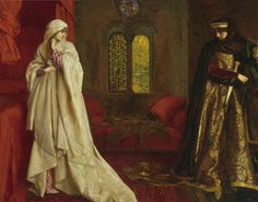 Fair Rosamund and Queen Eleanor, 1920 Frank Cadogan Cowper English painter described as The last of the Pre-Raphaelites. Born in Wicken, Northamptonshire Queen Eleanor, Pre Raphaelite Paintings, John Everett Millais, Eleanor Of Aquitaine, Roi Arthur, Pre Raphaelite Brotherhood, Art Moderne, Oeuvre D'art, Les Oeuvres
