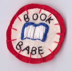 Book Babe Patch by Hanecdote on Etsy, £7.00