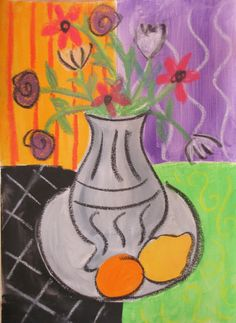 Love this as a Matisse project... maybe spend a day making some monoprints for the background.