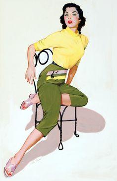 Illustration by Peter Darro c. 1950's