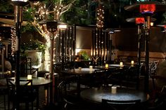 night restaurants   outdoor patio at night at wilshire restaurant
