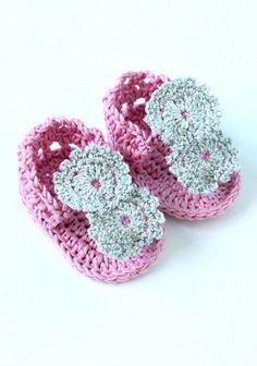 Crochet Pattern Baby Flip Flop Girl Sandals