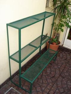 porta maceta de hierro para jardin - Buscar con Google #huertaenmacetas