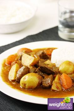 Healthy Dinner Recipes: Slow Cooker Beef Vindaloo. #HealthyRecipes #DietRecipes #WeightlossRecipes weightloss.com.au