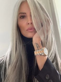 Lace Frontal Gray Wig Black Girl Brazilian Human Hair Wigs European Hair Extensions Crochet Loc Extensions Brazilian Wavy Hair With Closure - Cabello Rubio Long Gray Hair, Grey Wig, Silver Grey Hair, Blue Gray Hair, Lilac Hair, Pastel Hair, Green Hair, Wig Styles, Long Hair Styles
