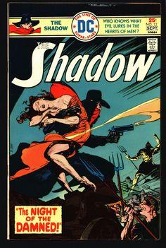 DC Comics SHADOW #12 1975 Denny O'Neil, E.R. Cruz Maxwell Grant Walter Gibson Lamont Cranston Pulp Comic Book Last issue