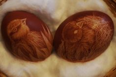 Easter eggs with two birds made in 2013