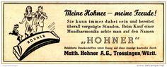 Original-Werbung/ Anzeige 1942 - HOHNER MUNDHARMONIKA - TROSSINGEN  - ca. 130 x 50  mm