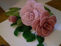 love antique beaded flowers