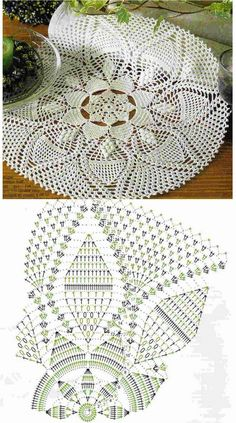 Kira crochet: Scheme no. 60 i'm noticing an overwhelming number of pineapples LOL i just love watching them come into being!crochet, knitting, and poentles . Crochet Patterns Filet, Crochet Doily Diagram, Crochet Mat, Crochet Dollies, Crochet Home, Thread Crochet, Filet Crochet, Knitting Patterns, Pineapple Crochet