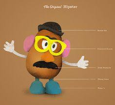 Mr Potato Head  Except we used a real potato