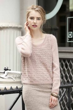 Ravelry: #12 Lacy Pullover pattern by Sarah Hatton