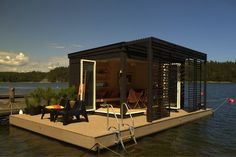 Floating Spare Room - who wants to camp on solid ground when you can float on a lake - The Kenjo Floating Cabin