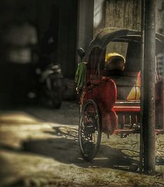 Parking Lot #becak #indonesia #vehicle