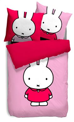 miffy bed covers #cute #kawaii Bunny Beds, Kawaii Bedroom, Miffy, Cute Pillows, Everything Pink, Baby Design, Deco, Bed Covers, Children
