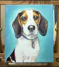 8x10 acrylic Custom Pet portrait original by LamandaDesigns, $45.00