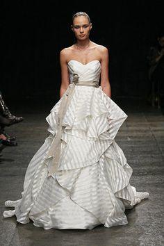 bright and colorful striped wedding dresseswedding