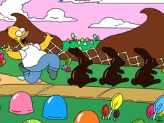 Homer in the Land of Chocolate.