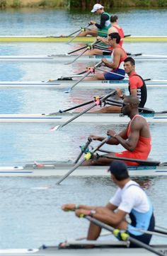 Men's Single Scull ... the calm before the storm ...
