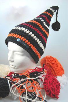 OktoberNacht Zipfelmütze Mütze gestreift von DaiSign auf DaWanda.com