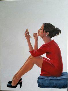 Artist Amelia Punton. oil on canvas.
