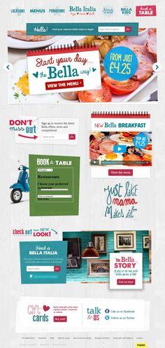 Bella Italia - Italian restaurant - html5, Responsive Design, Inspiration, Restaurant, Website, Food, Animation, Drink