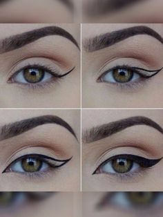35 besten Ideen Make-up Eyeliner Winged Tutorials Augenbrauen – … - Makeup Tutorial Over 40 Eyeliner Hacks, Khol Eyeliner, Eyeliner Styles, No Eyeliner Makeup, Eyeliner Liquid, Liquid Liner, Eyeliner Pencil, Eyeliner Ideas, Cat Makeup