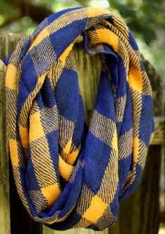 Telluride Infinity Scarf - Blue & Gold