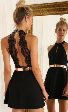 Robe de soirée courte en noire