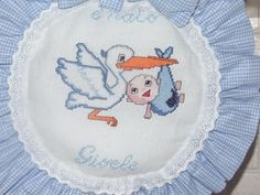 I miei hobby: E' nato Gioele!! Fiocco nascita' a punto croce.