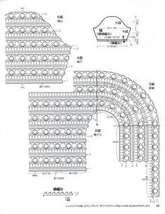 Crochet bolero, free pattern
