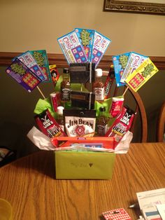 25th Birthday Idea For Him Golden Gifts Gift Baskets