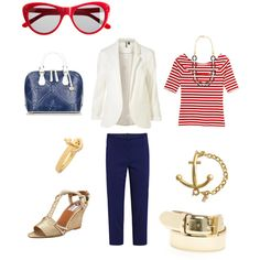 Love nautical red white and blue looks
