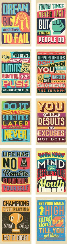 LAST DAY: Bundle of 20 Downloadable Vintage-Style Motivational Posters - only $9 - MightyDeals