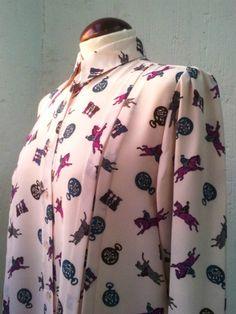Vintage 80s Pale Pink Blouse por Laimperdible en Etsy