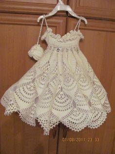 Snowflake Child Dress free crochet graph pattern