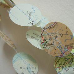 map paper garlands