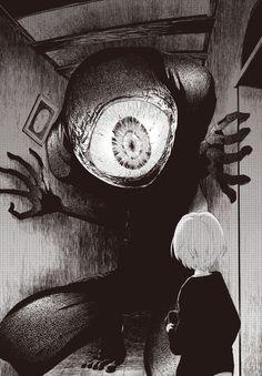 Welcome to Manga Macabre Arte Horror, Creepy Art, Scary, Creepy Eyes, Manga Art, Anime Art, Manga Anime, Art Noir, Drawn Art