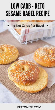 Keto Bread Made With Coconut Flour #KetoBananaBread Low Carb Bagels, Keto Bagels, Low Carb Bread, Low Carb Keto, Keto Pancakes, Easy Keto Bread Recipe, Best Keto Bread, Bagel Recipe, Biscuit Recipe