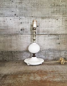 Lamp Mid Century Milk Glass Lamp Glass Lamp Table Lamp Desk Lamp Antique Glass Light White Lamp Cottage Chic Lamp Hobnail Milk Glass Lamp by TheDustyOldShack on Etsy