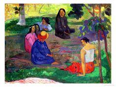 Les Parau Parau (The Gossipers), or Conversation, 1891 Lámina giclée por Paul Gauguin en AllPosters.es