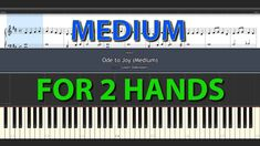 Ode to Joy MEDIUM Piano Tutorial for beginners with + without sheet  - normal speed BEETHOVEN Ode To Joy, Piano Tutorial, Tutorials, Medium, Medium Long Hairstyles, Wizards