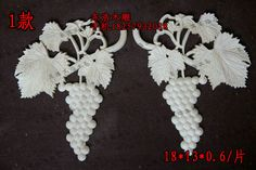 Long flower door furniture applique fashion grape wood shavings decoration…