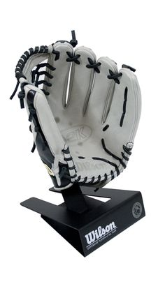 These custom designed and handcrafted glove stands were created to match the Major League Baseball awards we just finished for Wilson Sporting Goods