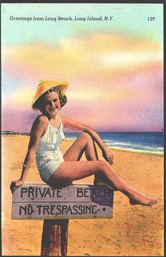Vintage Long Beach postcard