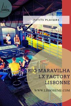 Rio Maravilha, restaurant-bar-lounge à Lx Factory - Lisbohème Bar Restaurant, Bar Lounge, Christ, Basketball Court, Danishes, Lisbon Portugal, The Calm, Top Restaurants, Terraces
