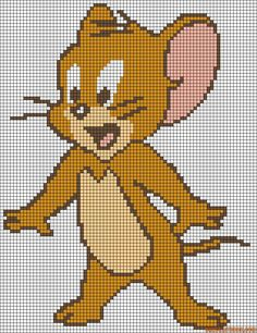 Jerry - Tom & Jerry perler bead pattern